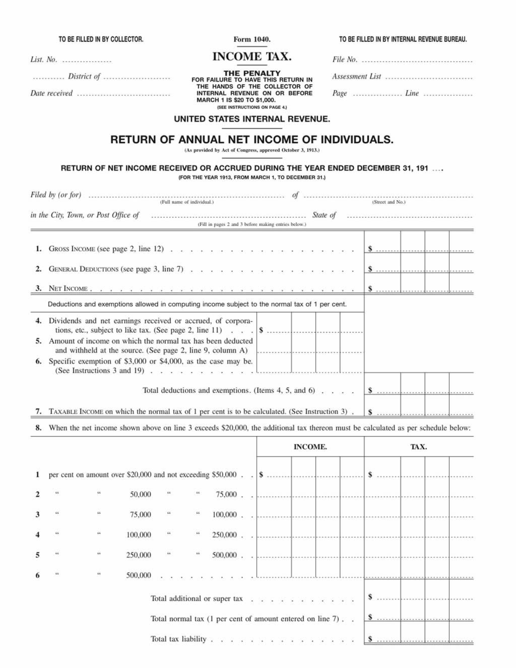 Irs form 1040 2012 choice image standard form examples the income tax in 1913 the 1913 income tax falaconquin falaconquin